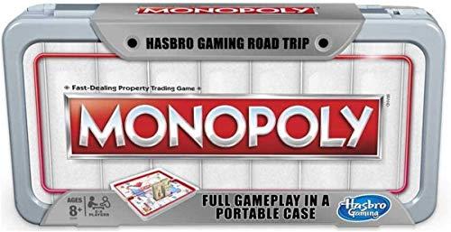 Hasbro Gaming Road Trip Series Monopoly Juego de Mesa portátil para Tomar en Marcha para niños Mayores de 8 años