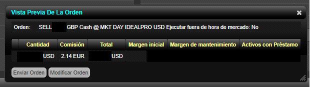 cambio de divisa en Interactive Brokers