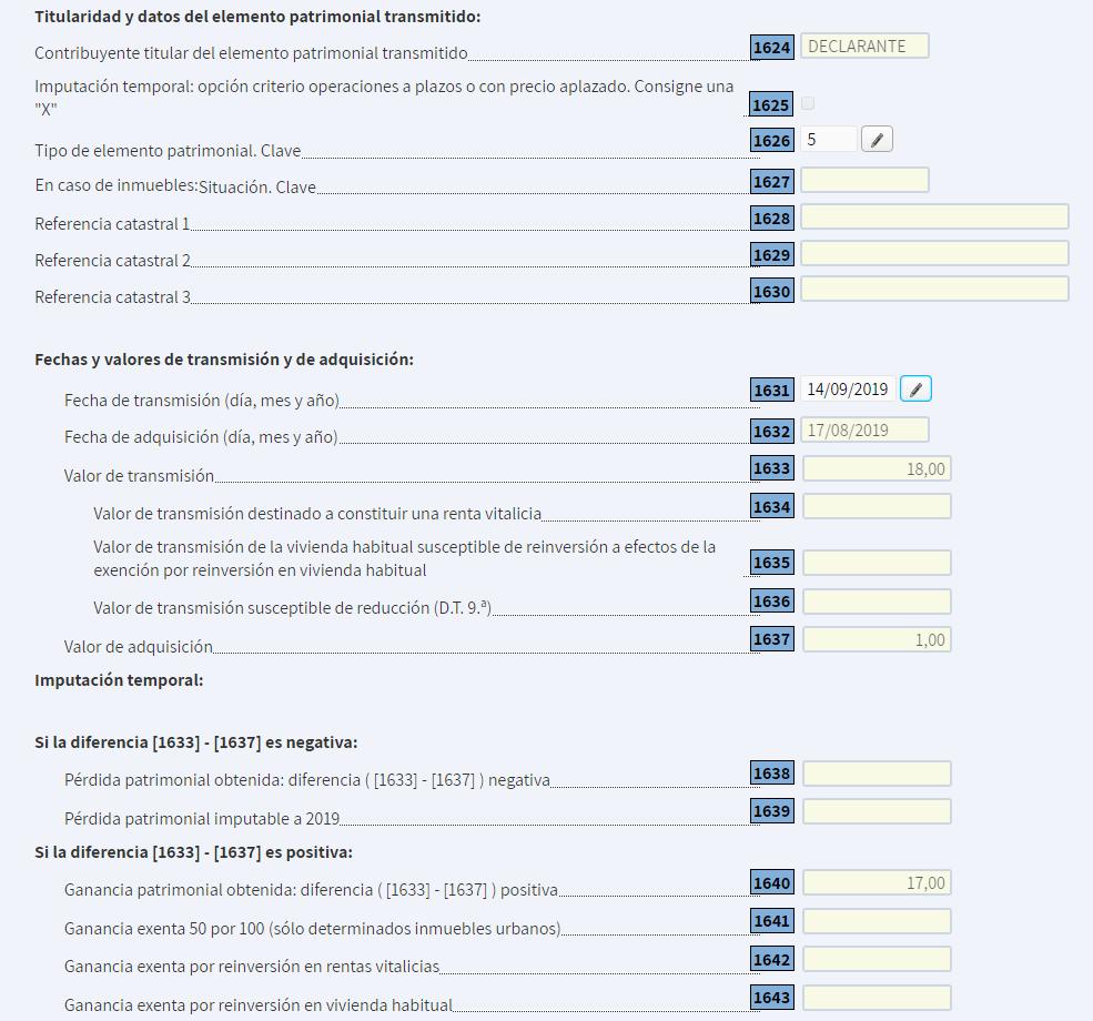 cómo meter la venta de puts en la declaración